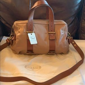 New with tags Fossil Mason Satchel - Camel
